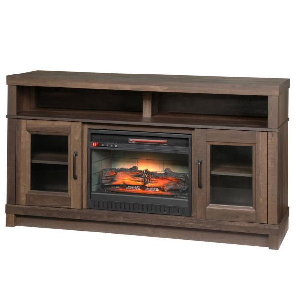 Ashmont 60 in. Freestanding Electric Fireplace TV Stand in Aged Oak