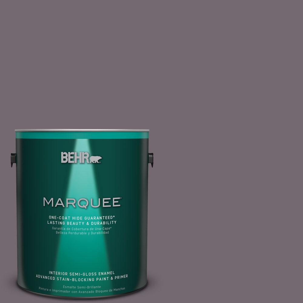 BEHR MARQUEE 1 gal. #MQ1-33 Sultry Smoke One-Coat Hide Semi-Gloss Enamel Interior Paint