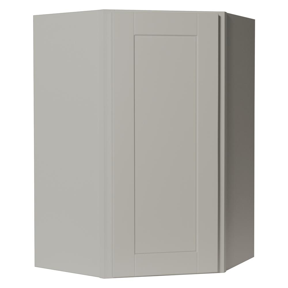 Shaker Assembled 24x36x12 in. Diagonal Corner Wall Kitchen Cabinet in Dove