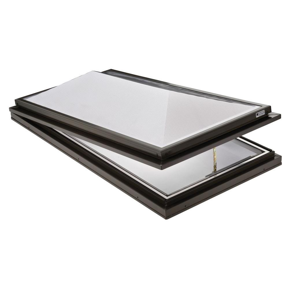Sunoptics Prismatic 2 ft. x 4 ft. Venting Curb-Mounted Double Hip Skylight