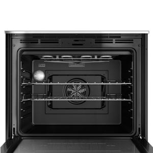 Bosch 500 Series 30 in  Single Electric Wall Oven with European Convection  and Self Cleaning in Stainless Steel