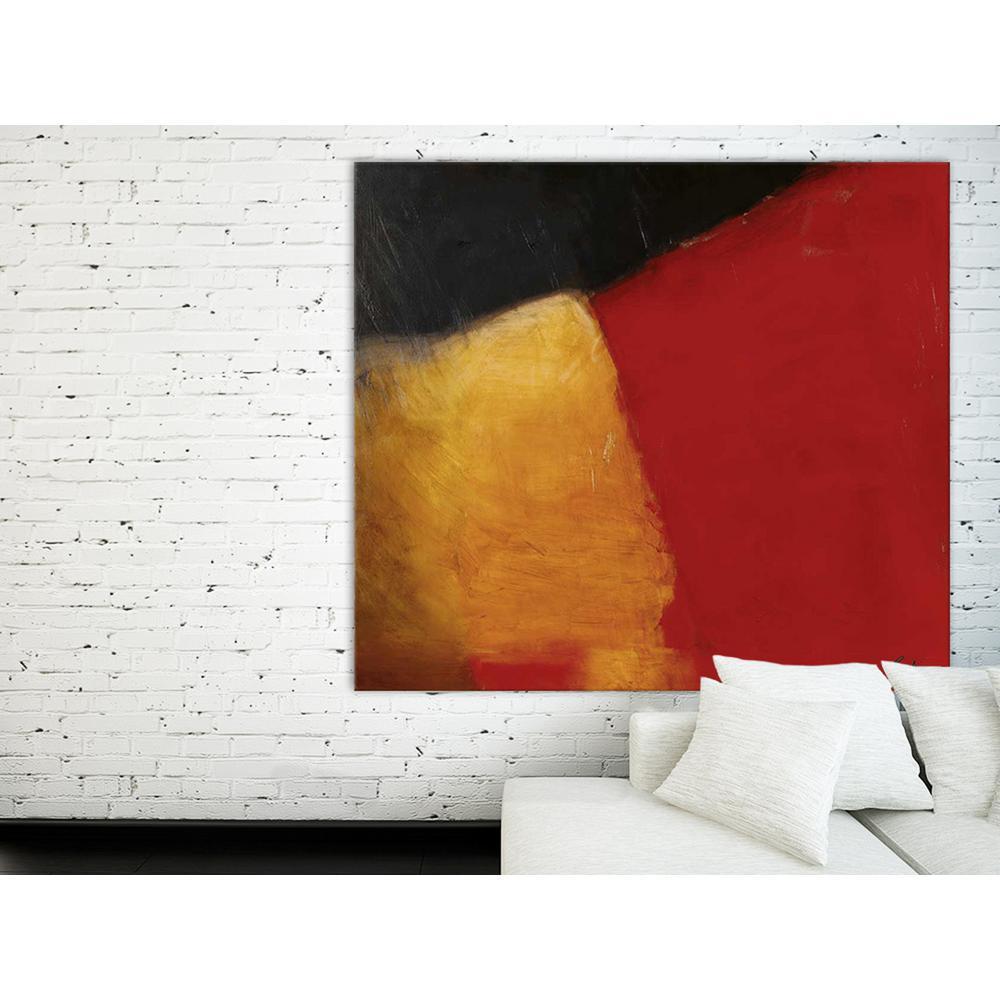 "72 in. x 84 in. ""Le rouge et le noir"" by Diane Lambin Printed Framed Canvas Wall Art"