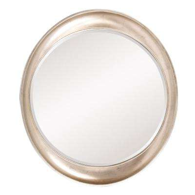 39 in. x 35 in. Resin Round Framed Mirror