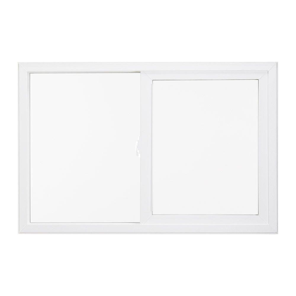 JELD-WEN 59.5 in. x 47.5 in. V-4500 Series Left-Hand Sliding Vinyl Window - White