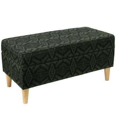 Diamond River Tonal Moss Storage Bench