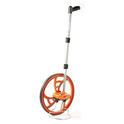 15-1/2 in. Measuring Wheel with Telescoping Handle and Pistol Grip - Measures in Feet and Inches (5 Digit Counter)