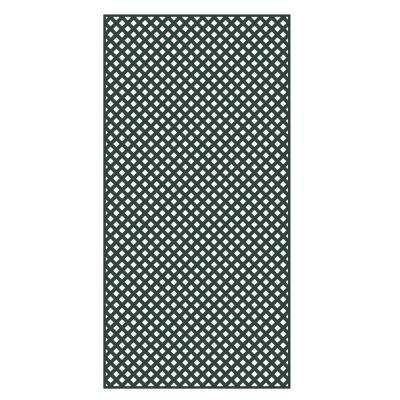 0.2 in. x 48 in. x 8 ft. Woodland Green Plastic Diamond Privacy Lattice