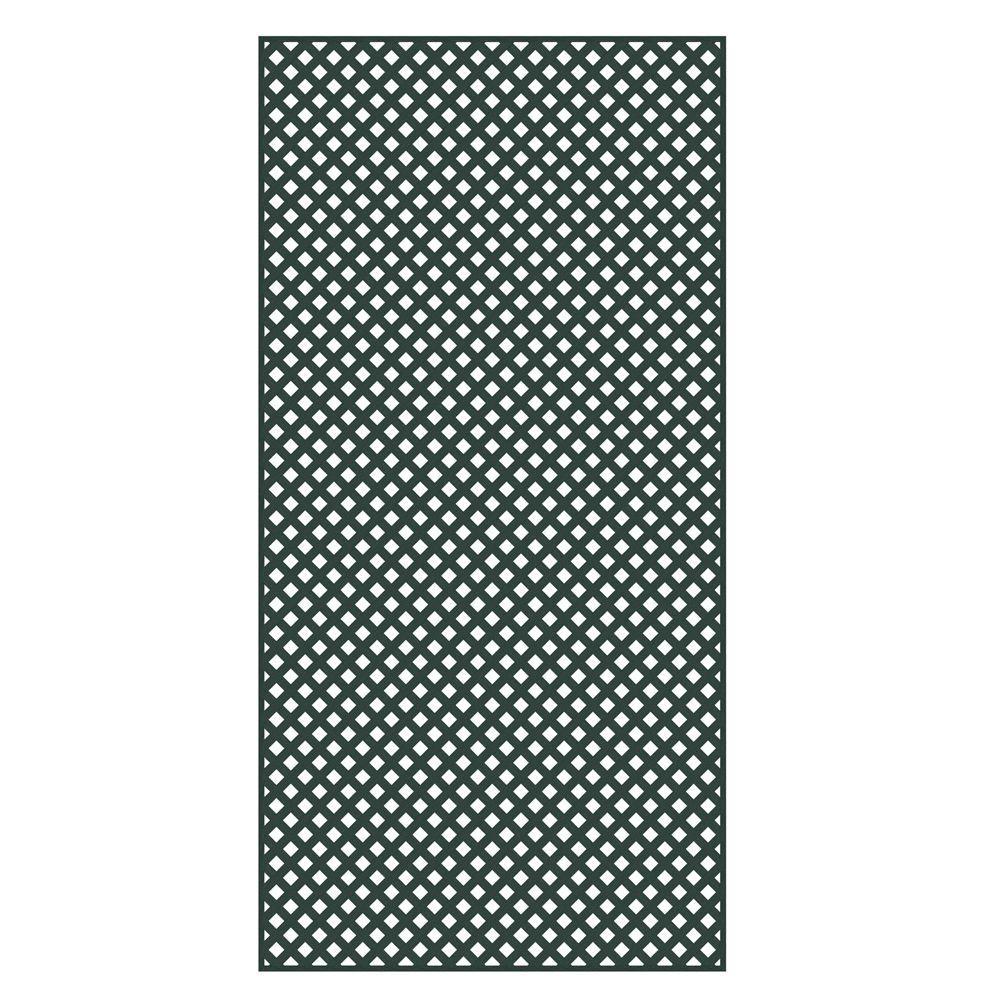Veranda 4 ft. x 8 ft. Woodland Green Privacy Diamond Vinyl Lattice - Framed