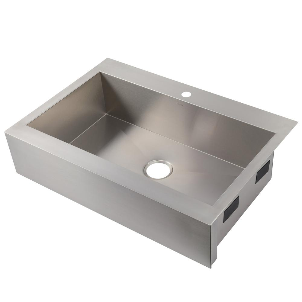 Superbe KOHLER Vault Farmhouse Apron Front Stainless Steel 36 In. 1 Hole Single Bowl