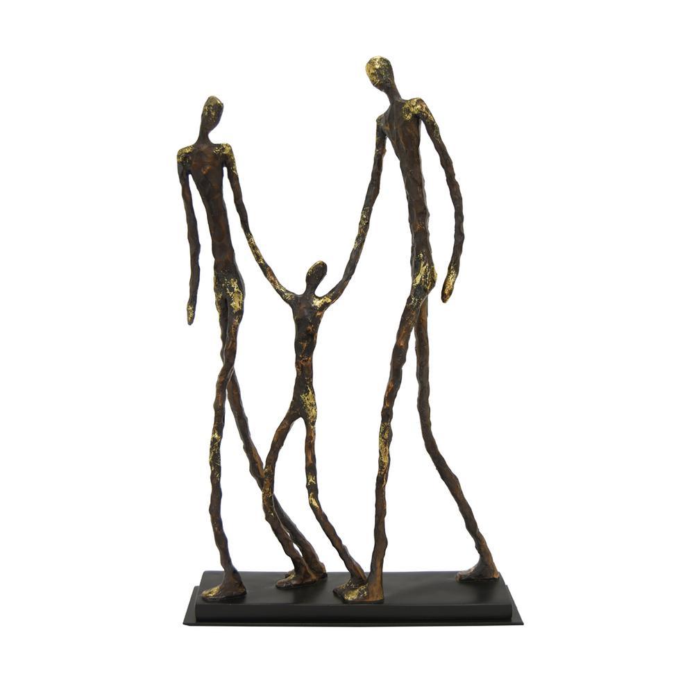 11.75 in. x 3 in. Resin Family Figurine in Black