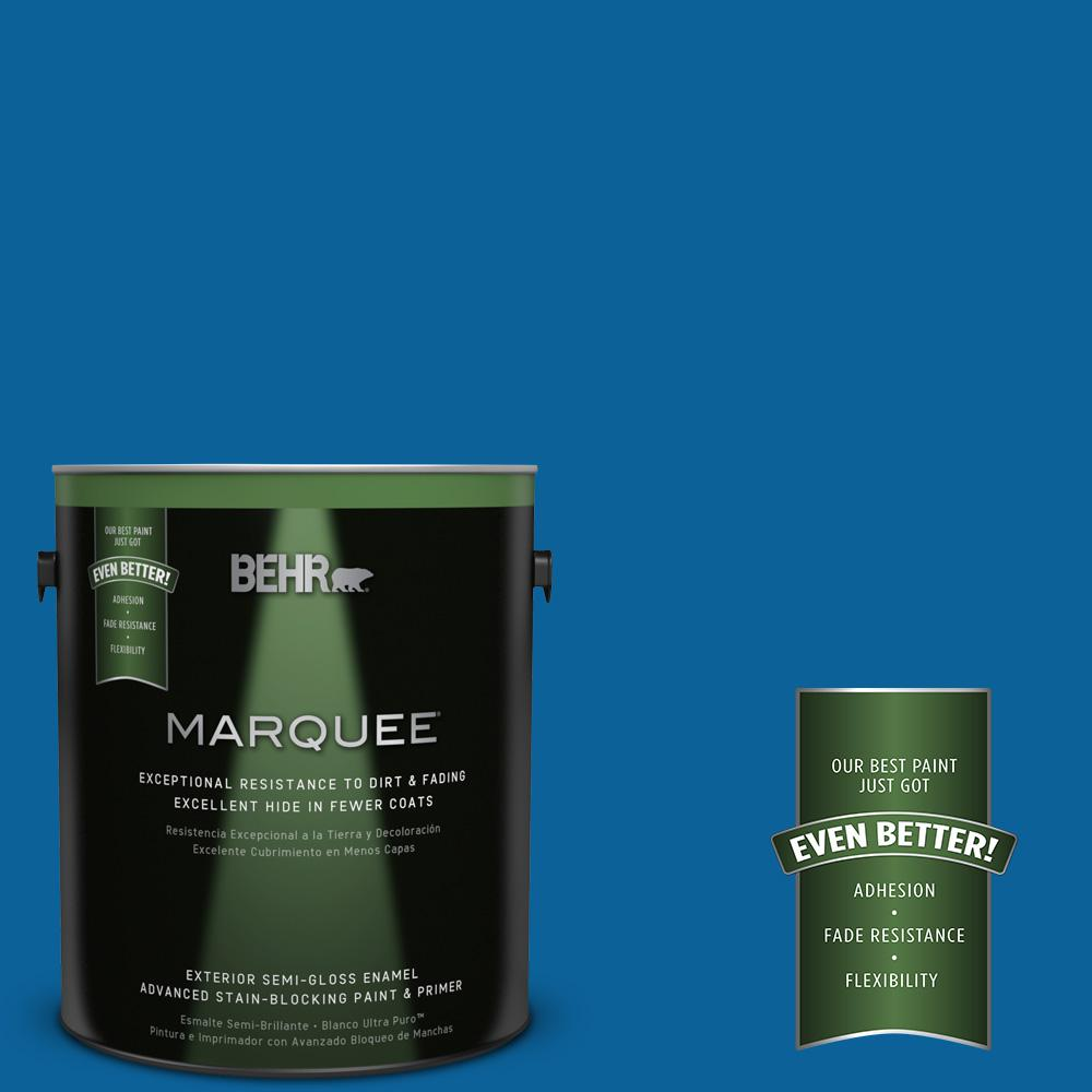 1-gal. #570B-7 Cobalt Glaze Semi-Gloss Enamel Exterior Paint