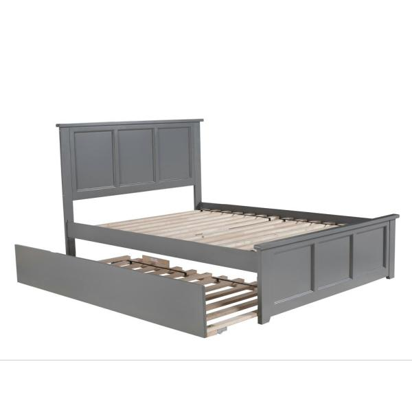 Atlantic Furniture Madison Full Platform Bed with Matching Foot Board with