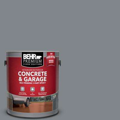 1 gal. #N500-5 Magnetic Gray Color Self-Priming 1-Part Epoxy Satin Interior/Exterior Concrete and Garage Floor Paint