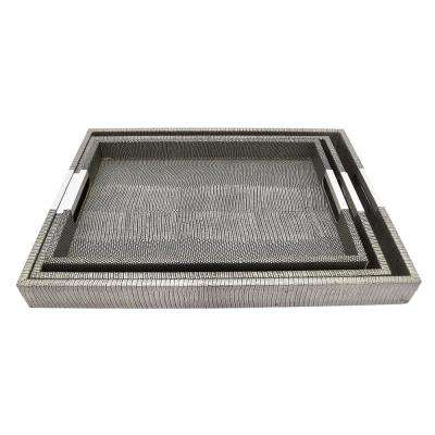 1.75 in. Wood Trays (Set of 3)