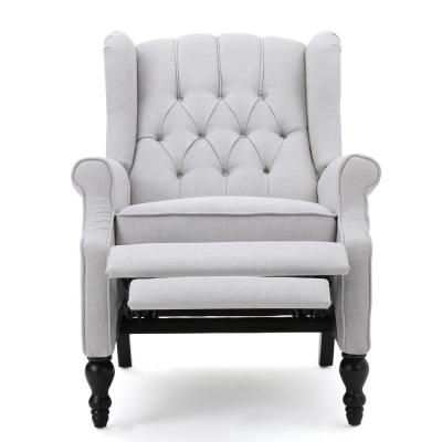 Walter Light Grey Fabric Recliner