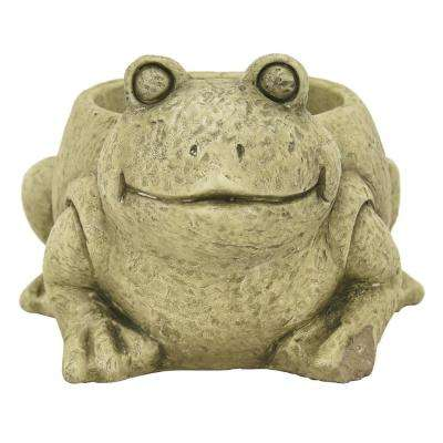 4.75 in. Green Frog Flower Pot