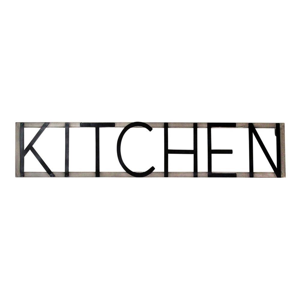 Metal Kitchen Sign Wall Decor