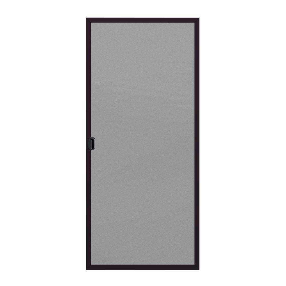 JELD-WEN 36 in. x 80 in. A-200 Series Bronze Aluminum Left-Hand Sliding Patio Door Screen