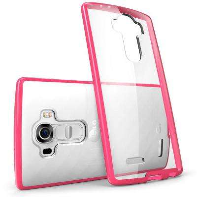 Halo Scratch Resistant Case for LG G4, Clear/Pink
