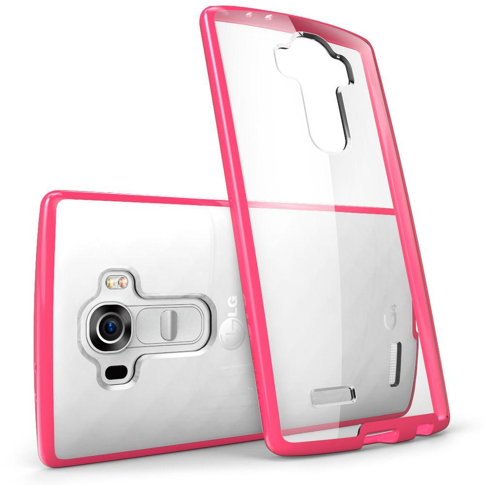buy popular 0955f da142 i-Blason Halo Scratch Resistant Case for LG G4, Clear/Pink