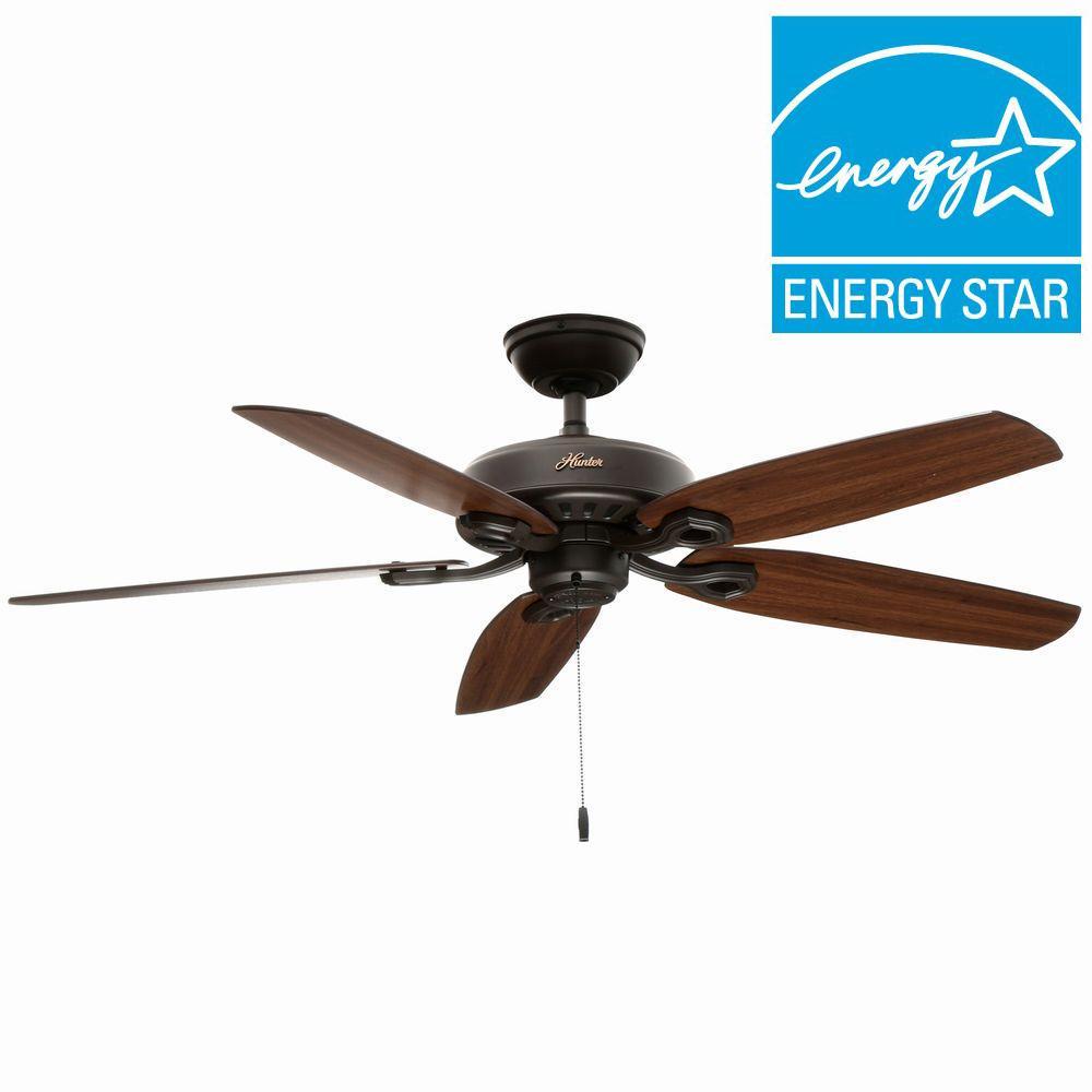 Hunter Builder Elite 52 inch Indoor New Bronze Ceiling Fan by Hunter