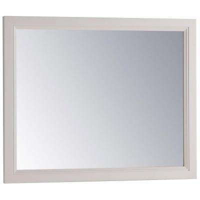 31 in. W x 26 in. H Framed Single Wall Mirror in Cream