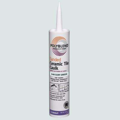 Polyblend #548 Surf Green 10.5 oz. Sanded Ceramic Tile Caulk