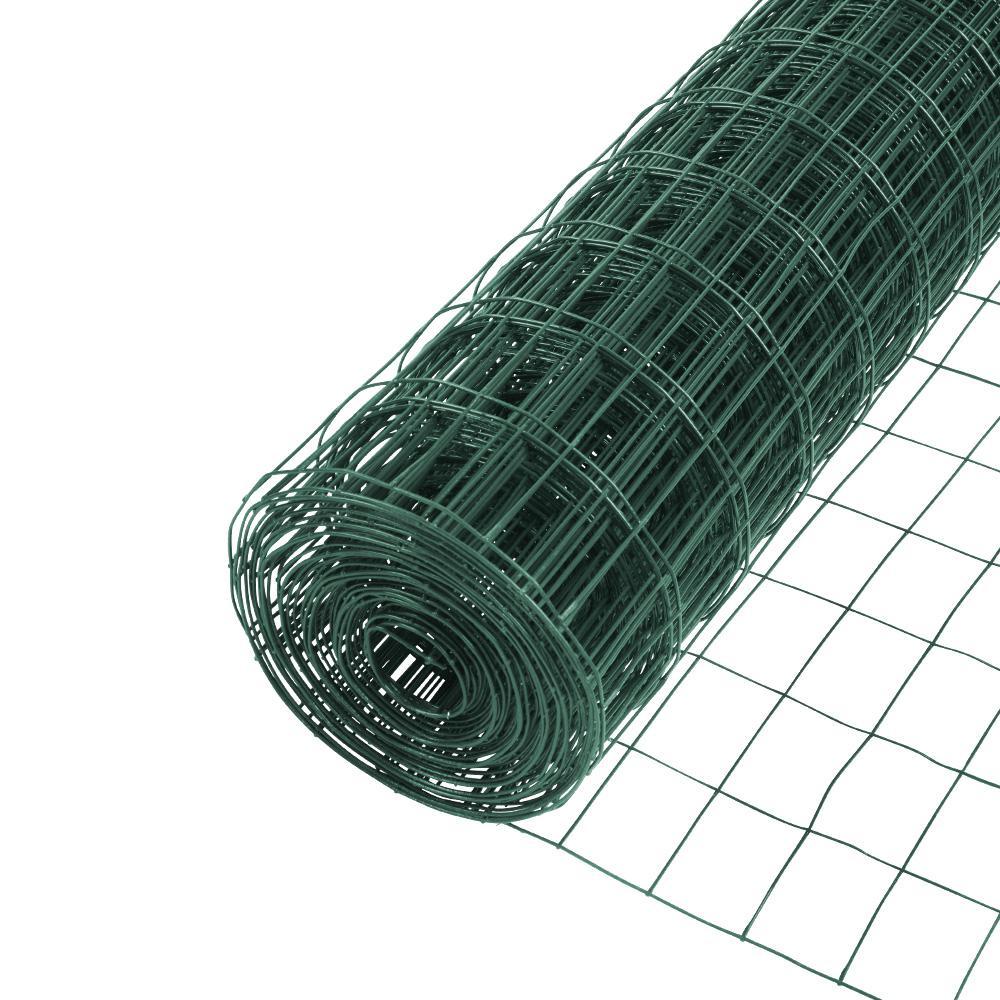 5 ft. x 50 ft. 16-Gauge Vinyl Galvanized Welded Wire