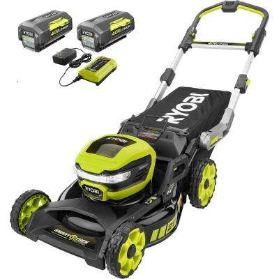 21 in. 40-Volt Brushless Lithium-Ion Cordless SMART TREK SelfPropelled Walk Behind Mower Two 6.0 AhBatteries & 1 Charger