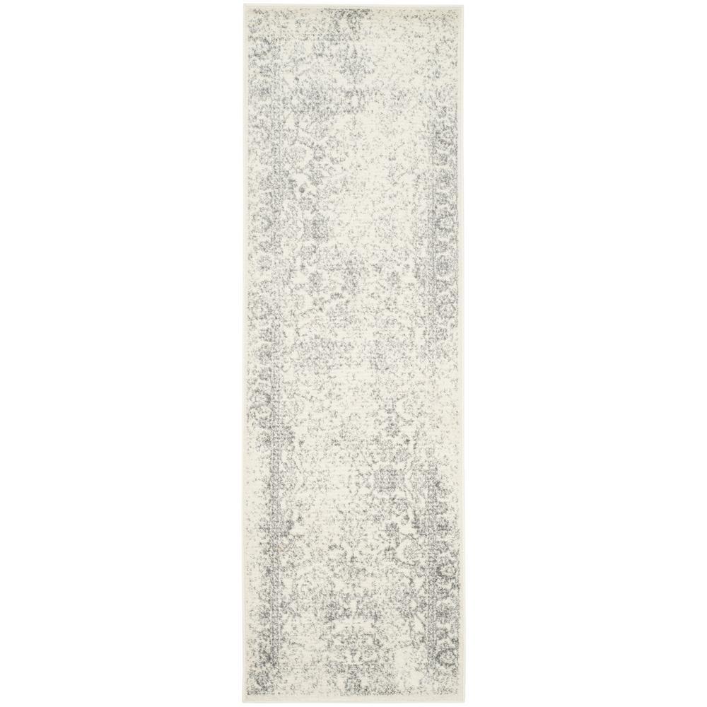 Adirondack Ivory/Silver 2 ft. x 6 ft. Runner Rug