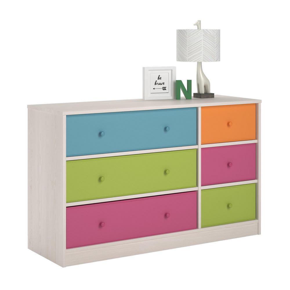 Ameriwood Allison 6-Drawer Muti-colored Dresser by Ameriwood
