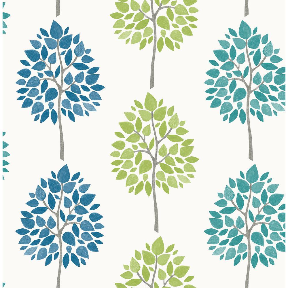 Advantage Tsai Multicolor Tree Wallpaper Sample 2813-24969SAM