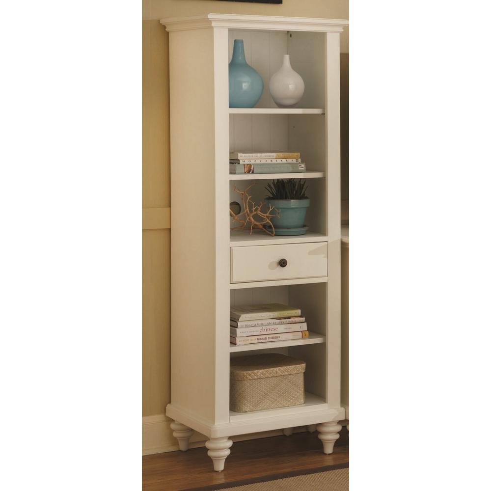 Home Styles Bermuda White Storage Open Bookcase 5543-13