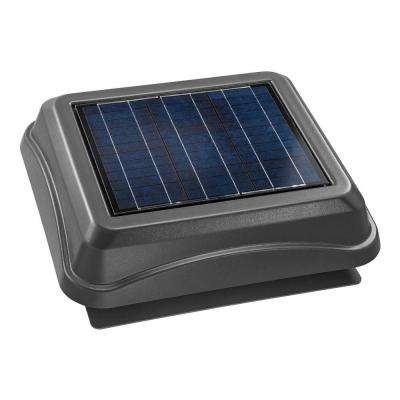 28 Watt Solar-Powered Weathered Wood-Look Surface Mount Attic Vent