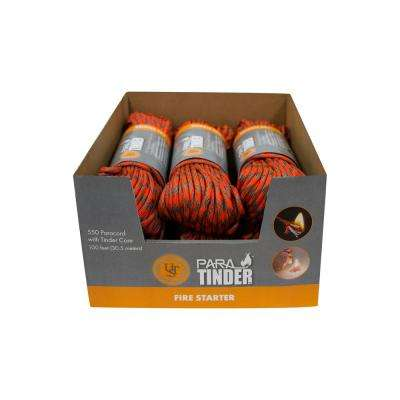 100 ft. Fire Starting Hank Orange (6-Pack)