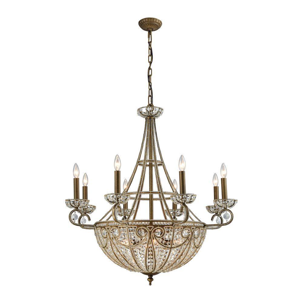 Elizabethan 14-Light Dark Bronze Chandelier