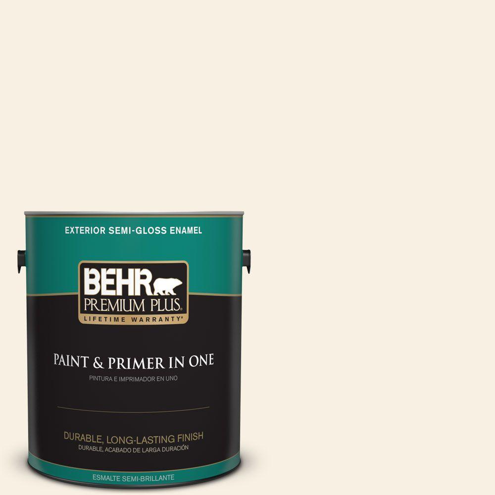 1-gal. #W-F-100 Belgian Cream Semi-Gloss Enamel Exterior Paint