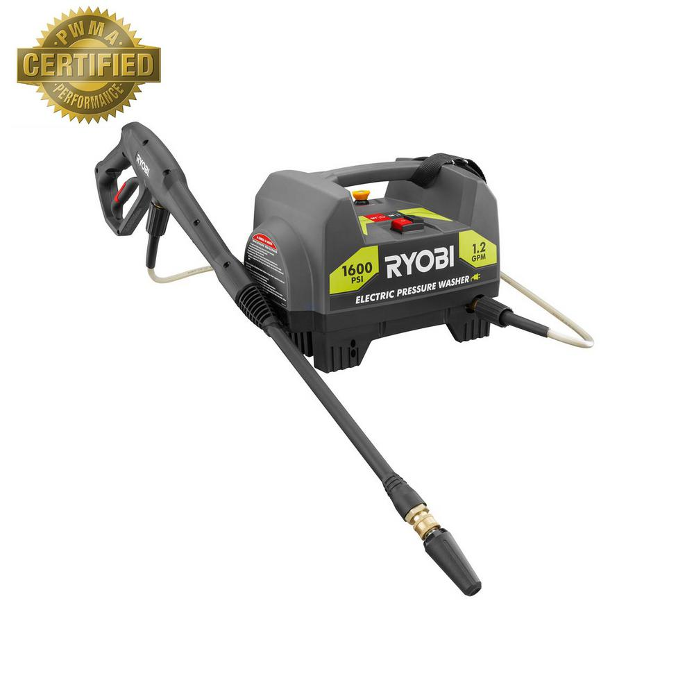 ryobi 1 600 psi 1 2 gpm electric pressure washer ry141612 the home