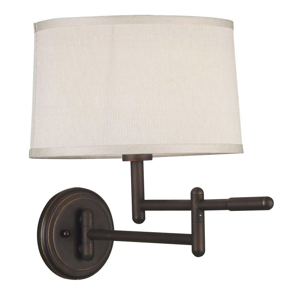 Kenroy Home Theta Copper Bronze Wall Swing Arm Lamp-12CB - The Home Depot