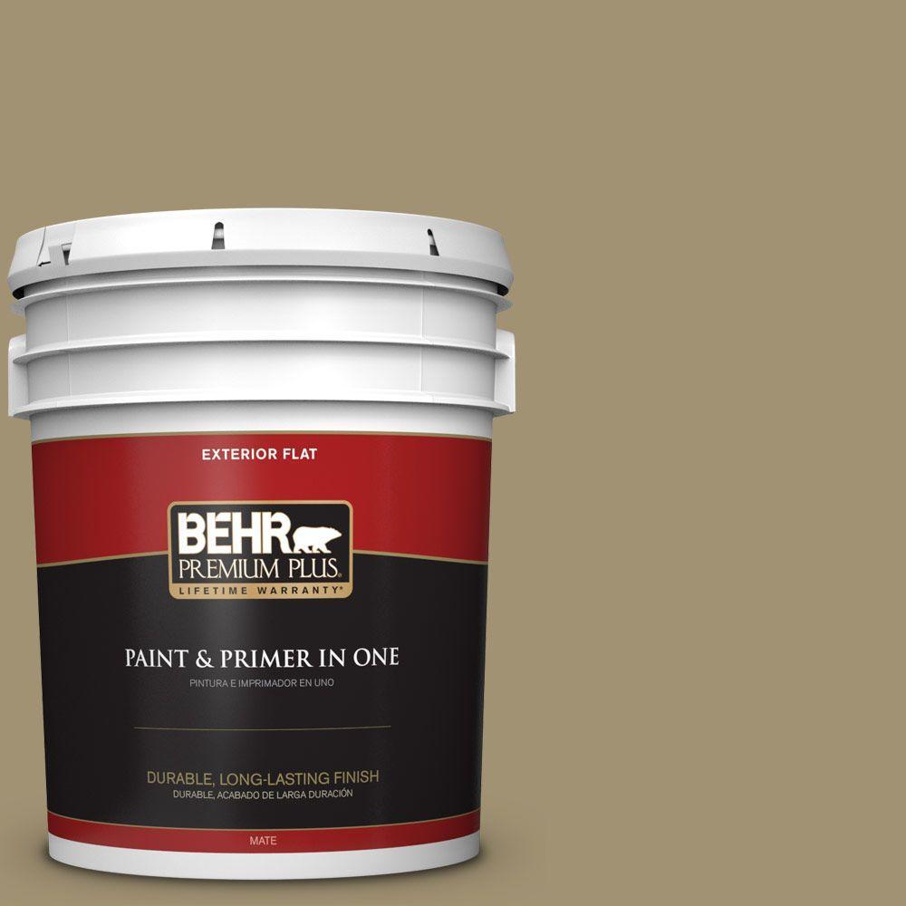 BEHR Premium Plus 5-gal. #380F-6 River Bank Flat Exterior Paint