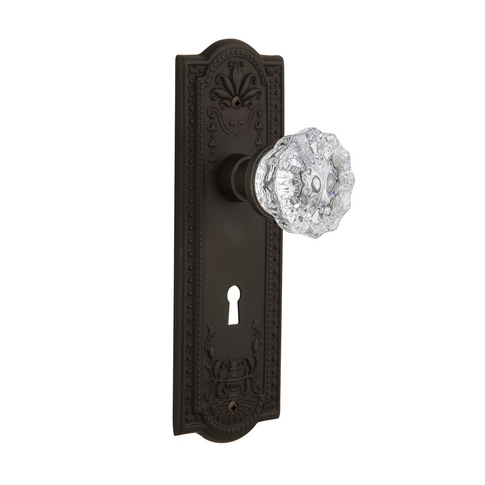 Meadows Plate with Keyhole 2-3/8 in. Backset Oil-Rubbed Bronze Passage