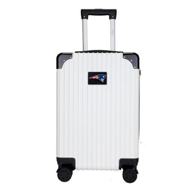 "New England Patriots premium 2-Toned 21"" Carry-On Hardcase in White"