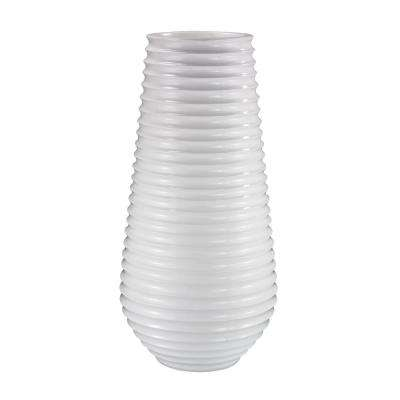 28 in. x 59 in. White Ribbed Fiberglass Planter