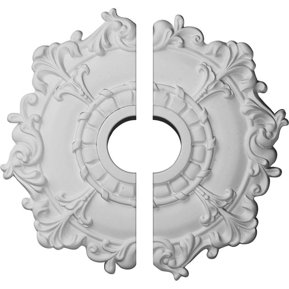 18 in. O.D. x 3-1/2 in. I.D. x 1-1/2 in. P Riley Ceiling Medallion (2-Piece)