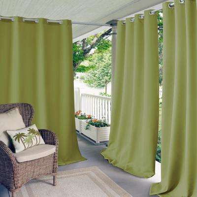 Connor 52 in. W x 95 in. L Indoor/Outdoor Solid Grommet Window Curtain Lime
