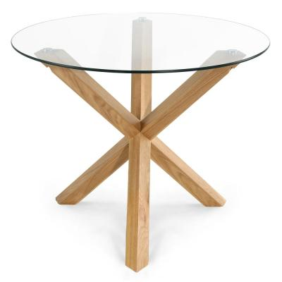 Kennedy 37.4 in. Round Dining Table in Oak