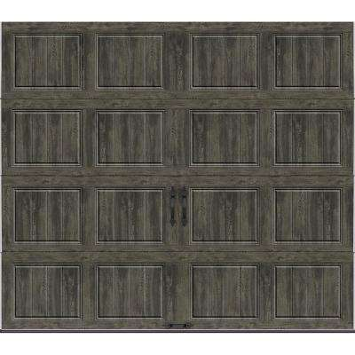 Gallery Collection 8 ft. x 7 ft. 6.5 R-Value Insulated Solid Ultra-Grain Slate Garage Door