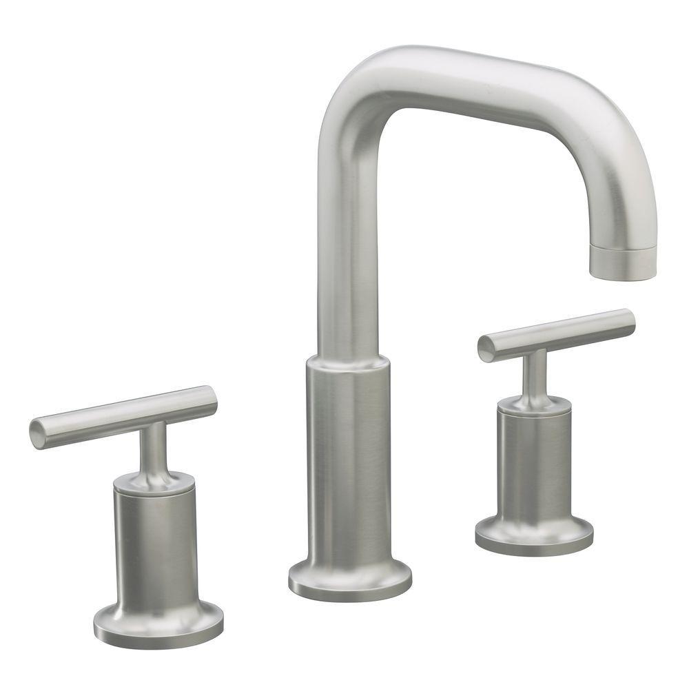 Purist 8 in. Widespread 2-Handle Tub Bathroom Faucet Trim in Vibrant Brushed Nickel
