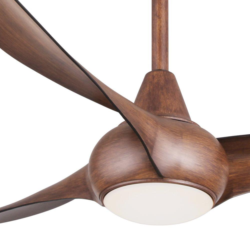Minka Aire Light Wave 52 In Integrated Led Indoor Distressed Koa Ceiling Fan With Remote Control