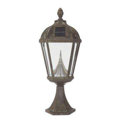 Royal Solar Weathered Bronze Outdoor Post Light on Pier Base
